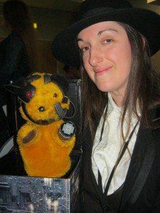 Me with Sooty of Borg. (Photo taken by Sooty's owner, Lady K.)