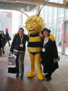 With Rhiannon and Maia the Bee