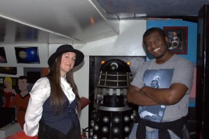 With R A Smith, both of us oblivious to the encroaching Dalek