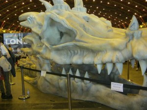 Giant dragon skull from the Game of Thrones display