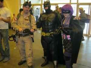 Ghostbuster, Batman and Hit Girl