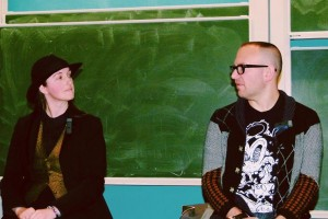 With Cory Doctorow. Photo by Chad Dixon.