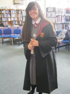 Hermione, complete with Time-Turner