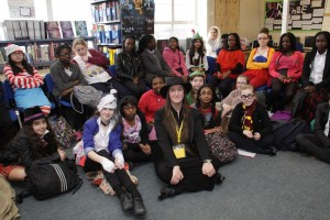 Townley Grammar - me with students-small