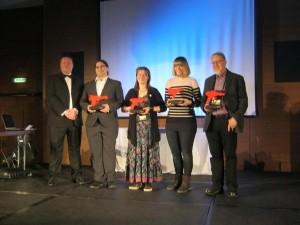 A representative of Ann Leckie, Ruth EJ Booth, Tessa Farmer and Edward James